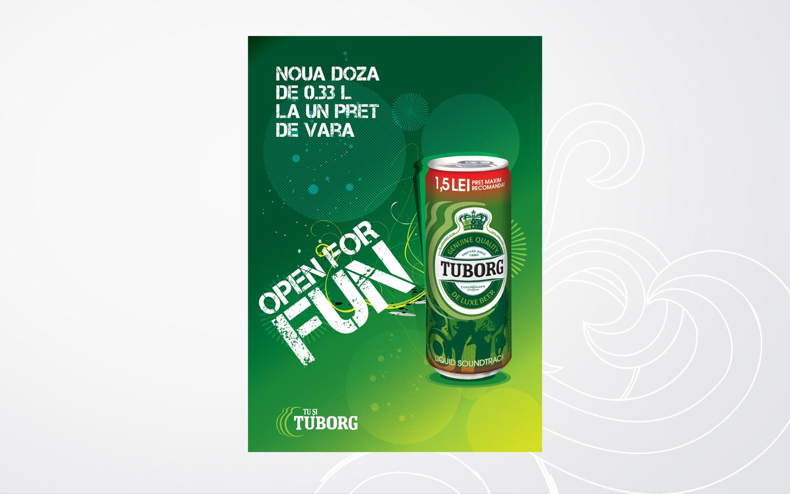 tuborg poster design retail promotional campaign