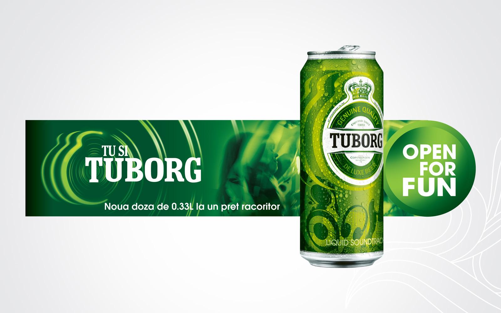 tuborg outdoor design retail promotional campaign