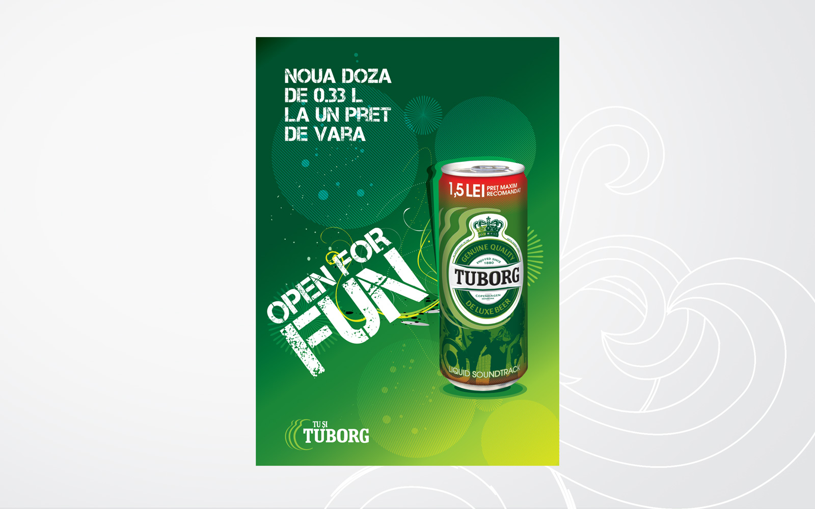tuborg poster design retail promotional campaign