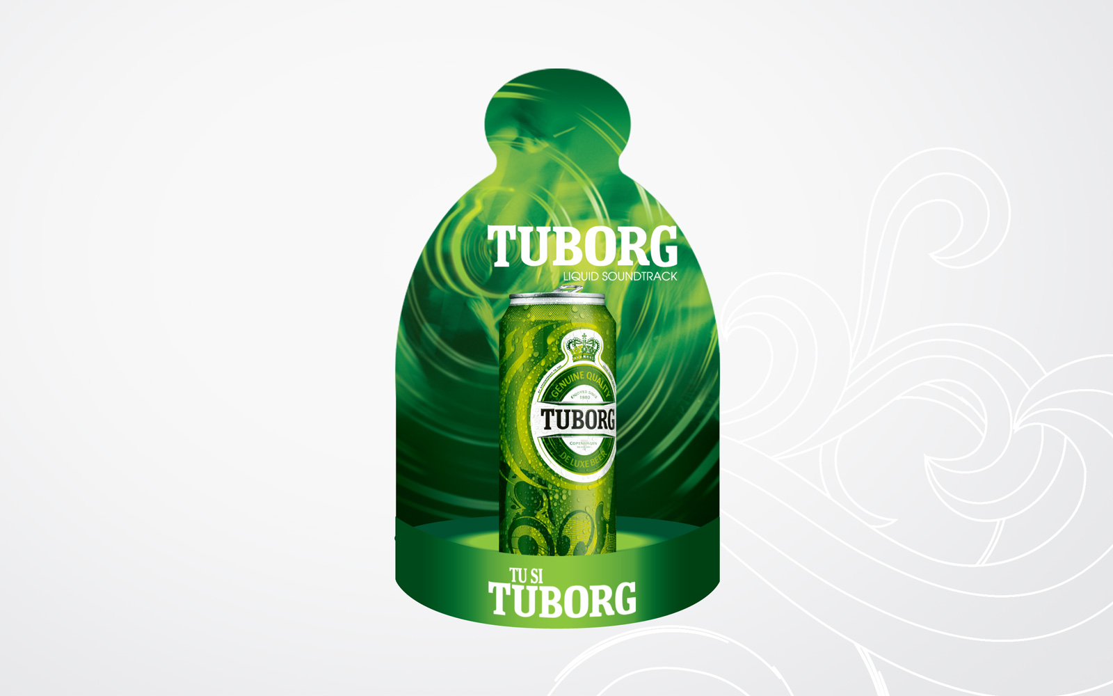 tuborg p.o.s design retail promotional campaign